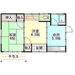 [一戸建] 神奈川県小田原市荻窪 の賃貸【/】の間取り