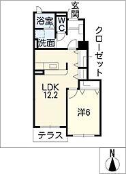 カルムメゾンI[1階]の間取り