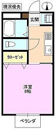 長野県長野市平林 1丁目の賃貸アパートの間取り