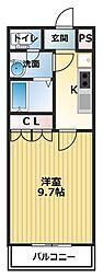 香川県善通寺市稲木町の賃貸アパートの間取り