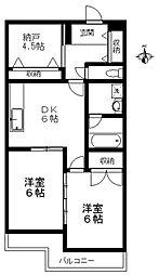 シティコーポパルナス東村山本町パート3[2階]の間取り