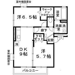 大阪府堺市北区新金岡町5丁の賃貸アパートの間取り
