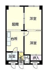 旭祥ハイツ[2階]の間取り