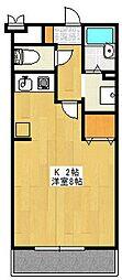 サンライズHILL[3階]の間取り