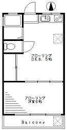 栗原コーポラス第1[205号室]の間取り