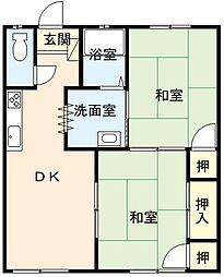 佐賀県唐津市和多田用尺の賃貸アパートの間取り
