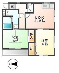 栄グランドハウス[2階]の間取り