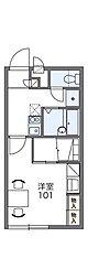 近鉄長野線 富田林駅 徒歩17分の賃貸アパート 1階1Kの間取り