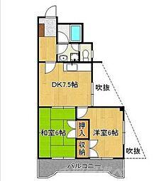 プレアール赤坂[3階]の間取り