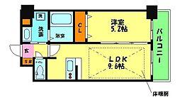 ディームス江坂 1階1LDKの間取り
