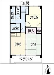 野田ハイツ[3階]の間取り