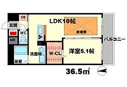 第21関根マンション[7階]の間取り