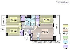 3LDK・専有面積71.41平米・バルコニー面積13.34平米
