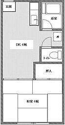 東京都杉並区堀ノ内3丁目の賃貸アパートの間取り