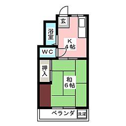 ウッドハウス[2階]の間取り