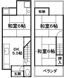 [一戸建] 京都府京都市南区久世大薮町 の賃貸【/】の間取り