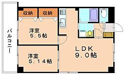 第11川崎ビル[4階]の間取り