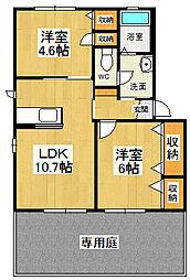 メゾン竹島2[105号室]の間取り