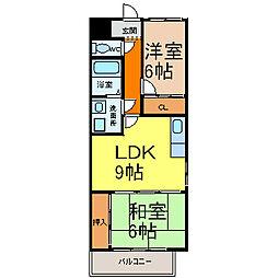 愛知県名古屋市中村区並木2丁目の賃貸マンションの間取り