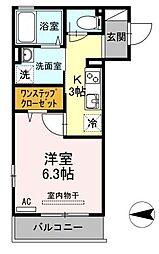 グランフィールズIII[2階]の間取り