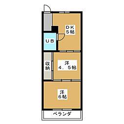 日電ビル[2階]の間取り