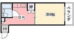 エクセレント甲子園七番館[2階]の間取り