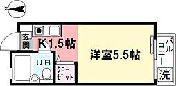 大橋フラット[202号室]の間取り