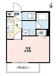 神奈川県大和市中央5丁目の賃貸アパートの間取り