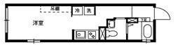 京急空港線 糀谷駅 徒歩3分の賃貸マンション 4階ワンルームの間取り