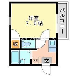 岡山県岡山市北区谷万成2丁目の賃貸マンションの間取り