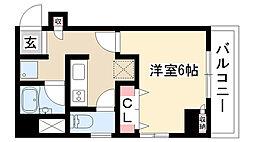 愛知県名古屋市昭和区紅梅町1丁目の賃貸マンションの間取り