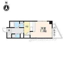 大阪モノレール彩都線 豊川駅 徒歩1分の賃貸マンション 3階1Kの間取り