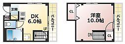 クラフトハイツ[4階]の間取り