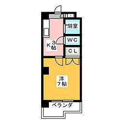 幸川マンション北館[6階]の間取り