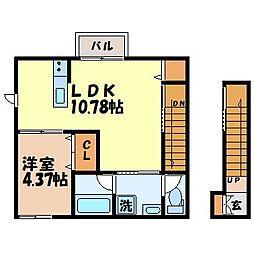 camminoIII 2階1LDKの間取り