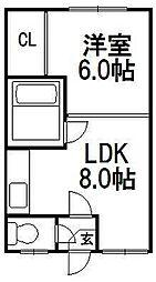 クチュール310[206号室]の間取り