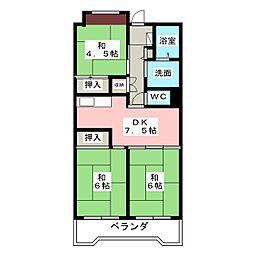 ビレッジハウス笠寺タワー[14階]の間取り