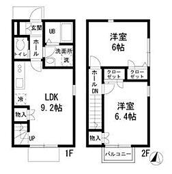 [テラスハウス] 神奈川県横浜市港南区上永谷3丁目 の賃貸【/】の間取り