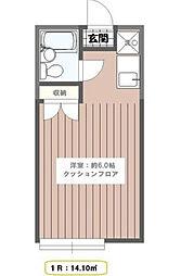 東京都江戸川区平井1丁目の賃貸アパートの間取り
