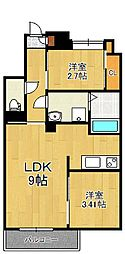 Studie TOBIHATA(スタディ飛幡)[5階]の間取り