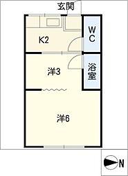 須賀ビル[2階]の間取り