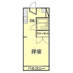 静岡県浜松市中区鹿谷町の賃貸アパートの間取り