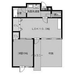 パルロイヤル東島田[3階]の間取り