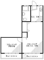 第1都マンション[305号室]の間取り