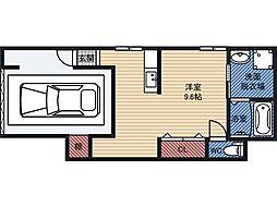 都島本通4丁目アパート 1階ワンルームの間取り