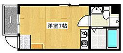 兵庫県神戸市灘区王子町1の賃貸マンションの間取り
