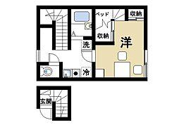 レオパレス南阪手2[2階]の間取り