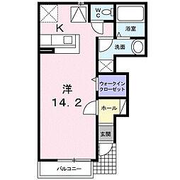 M・Kマンション partVI[1階]の間取り