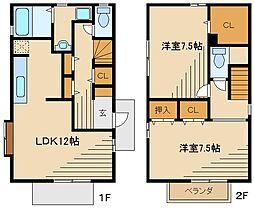 [テラスハウス] 東京都西東京市北町5 の賃貸【/】の間取り