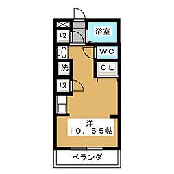 カーサミラ音羽[2階]の間取り